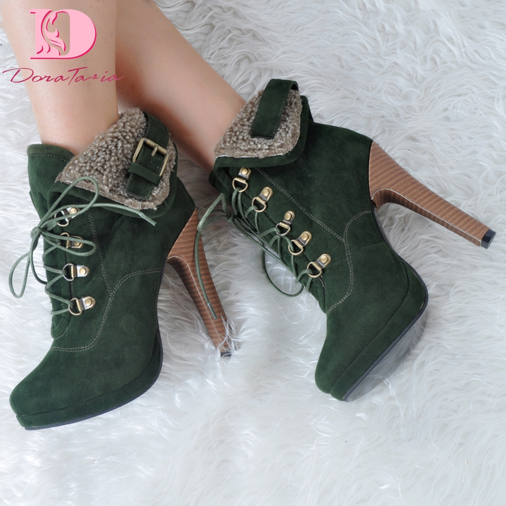 DoraTasia brand design big Size 35-47 sexy ankle boots Woman Shoes retro super high Heels party Shoes WomanDoraTasia brand design big Size 35-47 sexy ankle boots Woman Shoes retro super high Heels party Shoes Woman