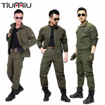 Automne pur coton à manches longues soudage costume Militaire tactique armée Militaire Ww2 Softair Roupas Masculinas Militaire uniforme