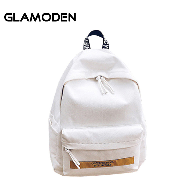 Summer Women's Backpack Canvas Backpack For  Large Travel Letter School Teenagers