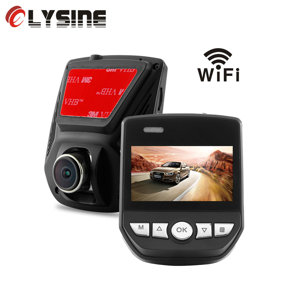 Olysine Novatek 96658 Mini WiFi Auto DVR Auto Recorder Video Dashcam Sony IMX323 Full HD 1080P Nachtzicht Auto registrator