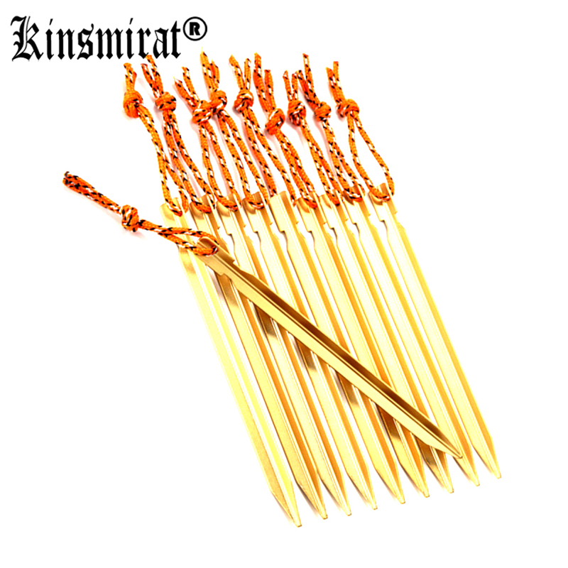 все цены на 10Pcs/lot Tent Peg Camping Equipment 18cm Stake with Rope Outdoor Traveling Kits Tent Pole Build