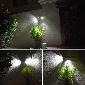 Image 5 - משודרג 600lm שמש מנורה חיצוני עמיד למים 10W תאורה מתכווננת זווית COB Led זרקור שמש עם חיישן תנועה