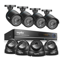 SANNCE 8CH CCTV Camera System AHD CCTV DVR 8PCS 1 0 MP IR Outdoor Security Camera