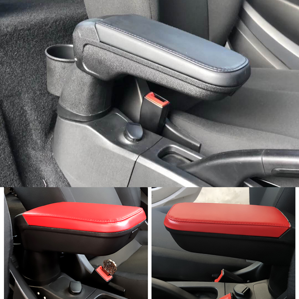 High Quality Leather armrest box with cup holder locker for Mercedes Smart 453 Fortwo Forfour Automotive
