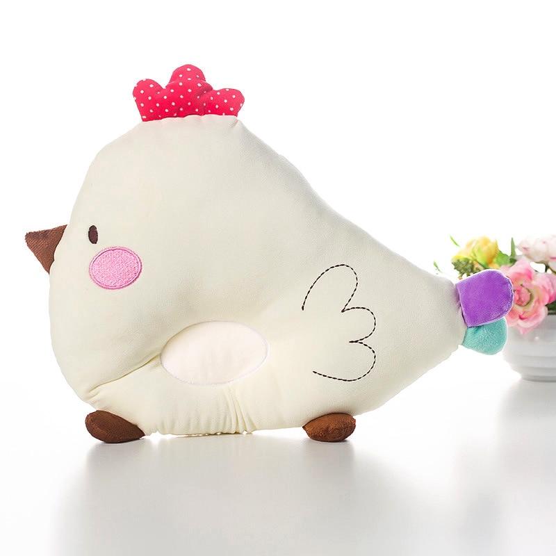 New Born Baby Sleeping Pillow Cartoon Chicken Anti-rollover infant Head Sleep Shaping Pillow Plush toy