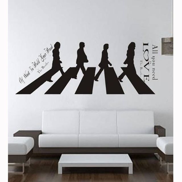 Aliexpress Com Buy Happy Home The Beatles Walked Removable Vinyl