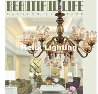 Antique Brass Color Chandelier Lights Iron Frame Copper Brass Color Chandelier Light Luxury LED Antique Copper Chandelier Light