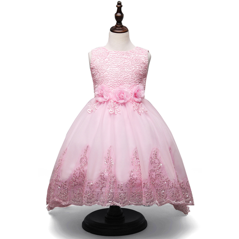 New Christmas Flower Girls Dress Lace Embroidery Trumpet Wedding Pageant Birthday Summer Princess Party Dresses Clothes 3-12yrs 2017 new european fashion embroidery flower girls dress wedding pageant summer children princess birthday party lace dresses