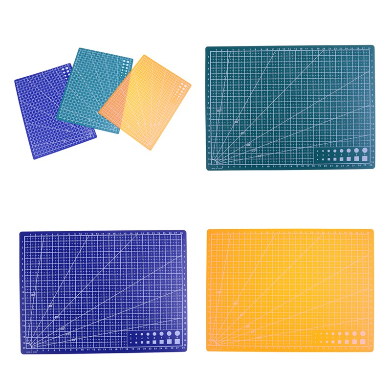 Peerless 1pc 30*22cm A4 Grid Lines Self Healing Cutting Mat Craft Card Fabric Leather Paper Board Sturdy Construction Cutting Supplies Office & School Supplies