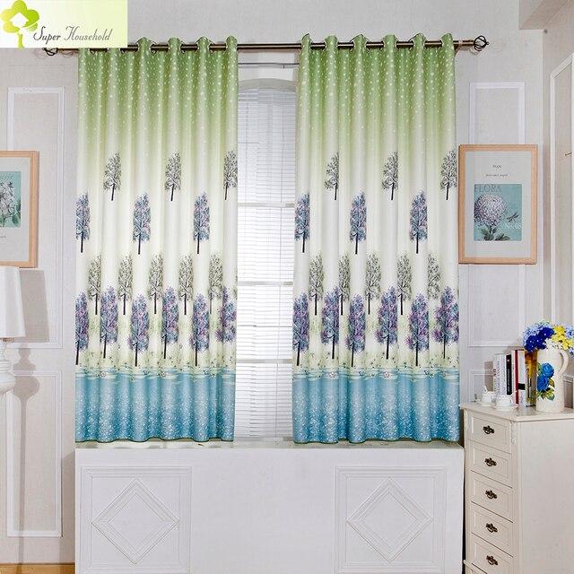 lavande imprim court rideaux pour fen tre de la cuisine rideaux pour chambre coucher blackout. Black Bedroom Furniture Sets. Home Design Ideas