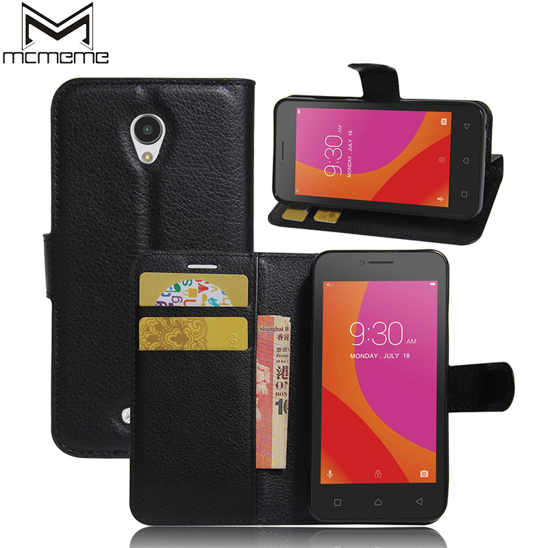 Mcmeme para lenovo a a40 4.5 pulgadas case style monedero pu leather back cubier