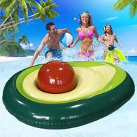 Inflatable Avocado Giant Pool Floating Row Summer Beach Swimming Ring Raft Toy For Kids Adults Swim Pool Party Buoy Toys