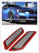 Um Par de 2 pcs Marcador Lateral Bumper Refletores Lâmpadas Fumaça para BMW Série 3 F30 F31 2013-2015 lado marcador de luz com 3 M