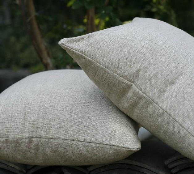 Solid Vintage Design 45cm 50cm Plain Nature Colour Cushion Linen