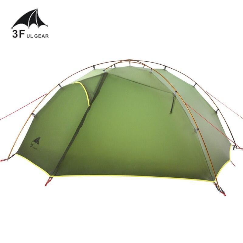 3F UL gear TaiJi2 Сверхлегкий 15D водонепроницаемый с силиконовым покрытием 2 мужских мест, туристическая палатка 3 сезона для кемпинга пешего туриз