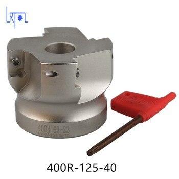 Livraison Gratuite BAP400R-125-40-7T Visage Fraise Outils Pour CARBIDE Inserts Convient Pour NC/CNC Machine face milling cutter