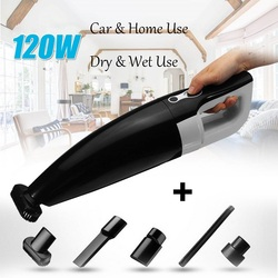 Mini Dry & Wet Use Vacuum Cleaner for Car Home Use 120W Portable Cordless Vacuum Cleaning Cleaner Car Cleaner Home Appliances