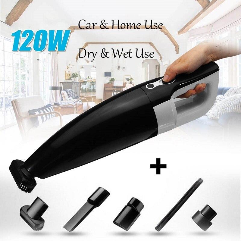 Mini Dry & Wet Utilisation Aspirateur pour La Maison De Voiture utiliser 120 W Portable Sans Fil Vide De Nettoyage Cleaner Voiture de Maison Plus Propre appareils