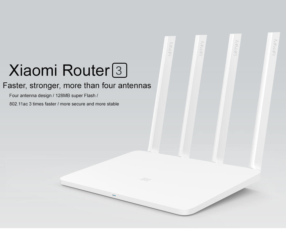 Original Xiaomi Mi WIFI Router 3 CPU MT7620A 2.4G5G WiFi Roteador Dual band 4 antenna APP Control 1167Mbps ok   (1)