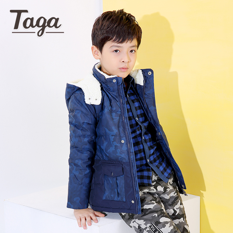 TAGA High Quality Thicken Jackets 2017 Winter New Children Duck Warm Coat Clothing Boys Baby Hooded Down Outerwear Parkas -15 C 2015 new hot winter thicken warm woman down jacket coat parkas outwewear hooded loose brand luxury high end mid long plus size l