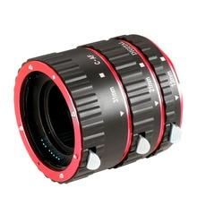 Neewer Auto Foco Macro Extension Tube Set para Canon EOS 5D Mark II III, 7D, 10D, 20D, 30D, 40D, 50D, 300D, 350D, 400D, 450D, 500D, 550D
