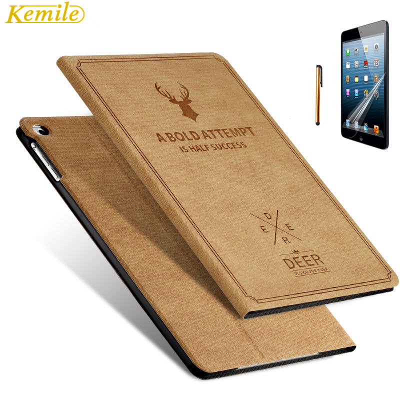 Kemile Case for iPad Mini 4 Ultra Slim Lightweight for iPad Mini Deer Auto Wake&Sleep Smart Stand Holder Folio Case Cover case for apple ipad mini 4 szegychx original 1 1 ultra slim smart cover stand for ipad case auto wake sleep with logo