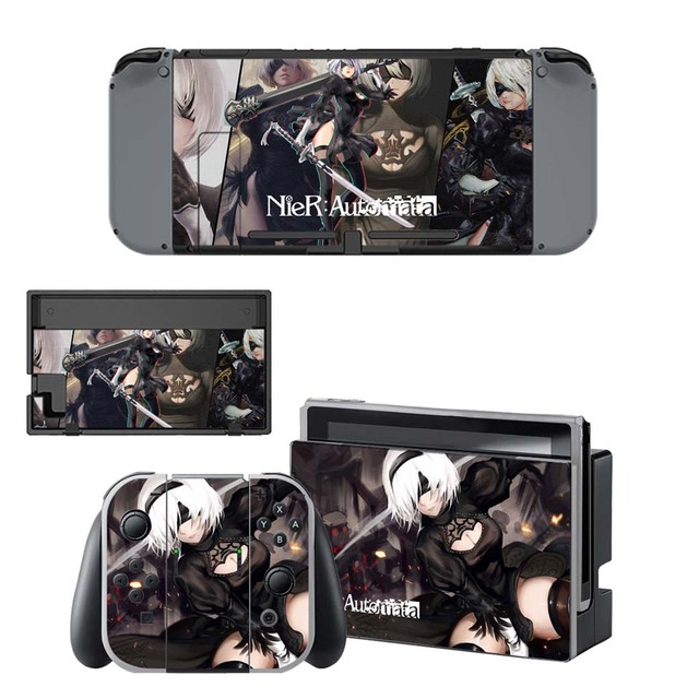 NieR:Automata Sticker - Vinyl Skin for Nintend Switch Skins Set for NS Console and Joy-con Controller 4