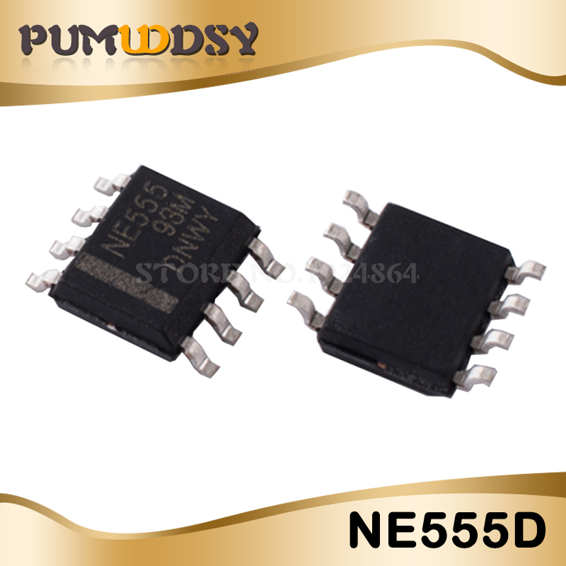 FREE SHIPPING 5 x NE555D NE555 IC 555 SMD Timer