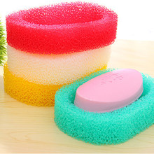 Creative Foam Sponge Soap Case Dishes Case For Bathroom Kitchen Absorbent Soap Holder Shower Soap Dish Road Plate Saver Tray(China)