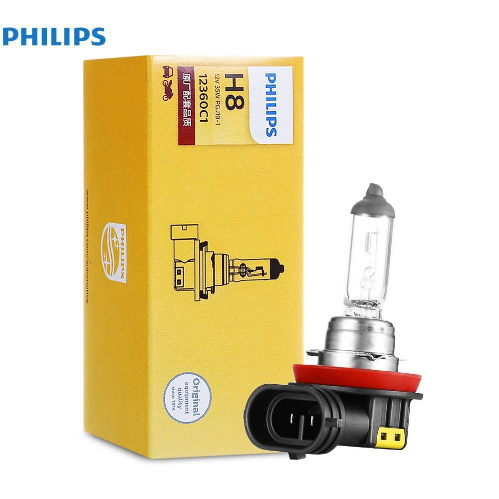 Philips 2PCS 70W H8 Car Headlight Halogen Bulbs Auto Led Headlamp 1400lm 3700k Car Headbulb Head Lights