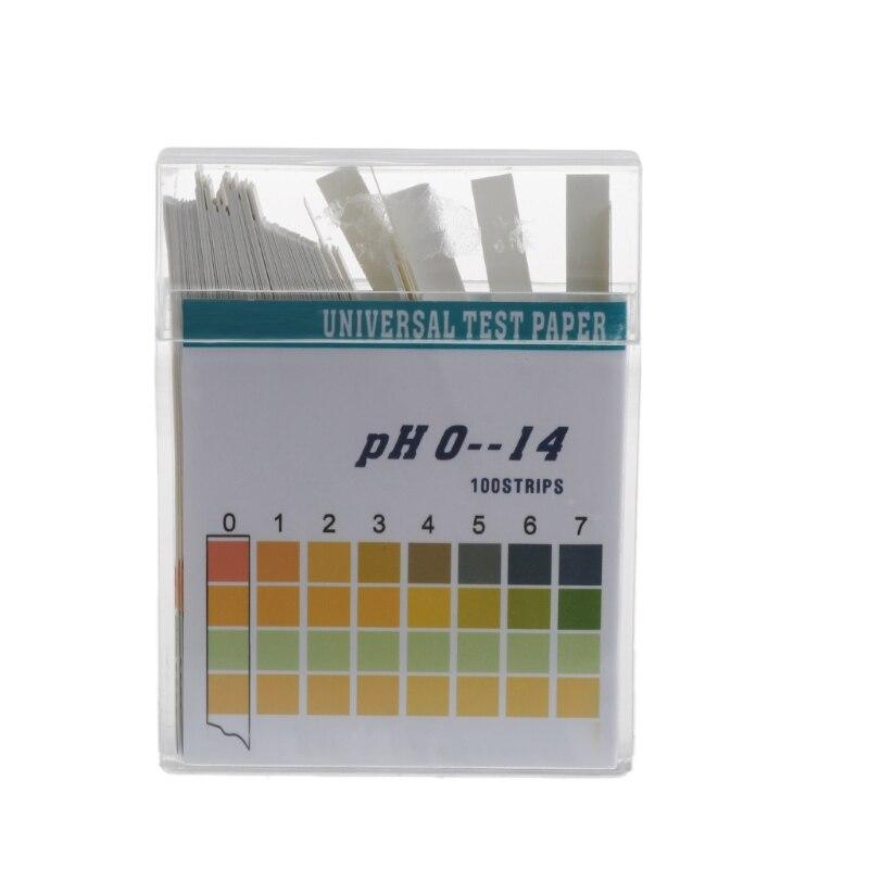 100 Strips 0-14 PH Alkaline Acid Indicator Paper Water Saliva Litmus Testing Kit