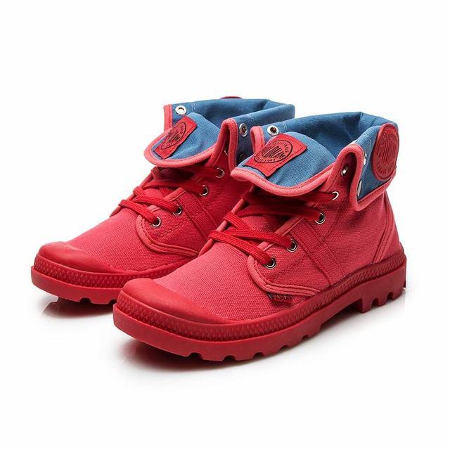 Kobieta wysoka pomoc płótno botki kobiety europejski płaskie platformy damskie Gladiator buty wojskowe buty wysokiej jakości