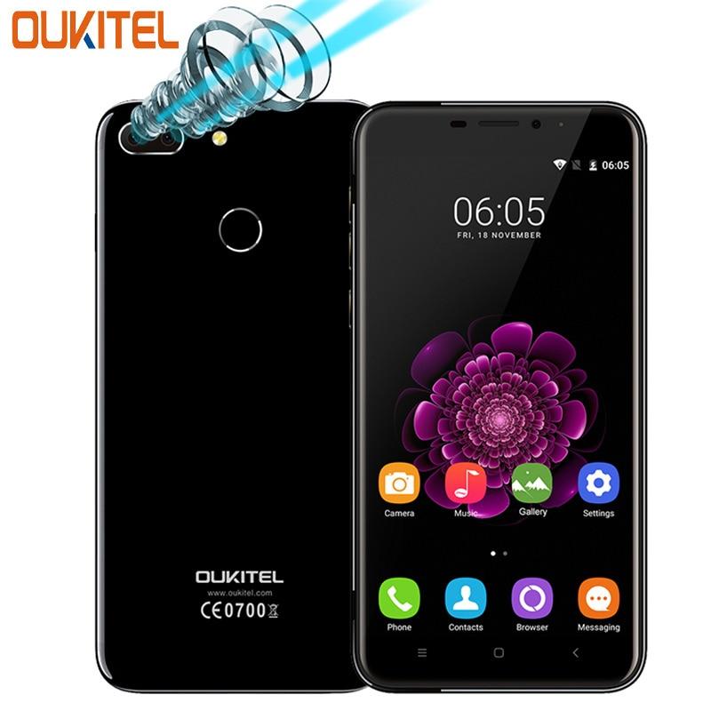 "Цена за Двойная камера oukitel u20 плюс мобильный телефон 5.5 ""ips fhd экран mtk6737t окта отпечатков пальцев id 13mp 3200 мАч смартфон"