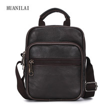 HUANILAI  Genuine Leather Bags Men Messenger Bag Shoulder Small Crossbody For Cowhide Handbags TY015