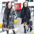 teenage girls wool coat tassel fashion 2017 winter clothing kids