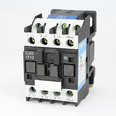 CJX2-1210 AC Contactor 380V 50Hz Coil 12A 3-Phase 3-Pole 1NOCJX2-1210 AC Contactor 380V 50Hz Coil 12A 3-Phase 3-Pole 1NO