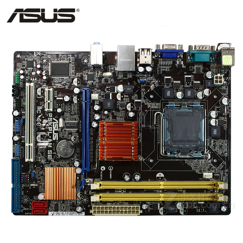 ASUS P5KPL-AM SE Motherboard LGA 775 DDR2 4GB For Intel G31 P5KPL-AM SE Desktop Mainboard Systemboard SATA II PCI-E X16 Used original motherboard for asus p5kpl am se ddr2 lga 775 for core pentium celeron 4gb g31 desktop motherboard free shipping