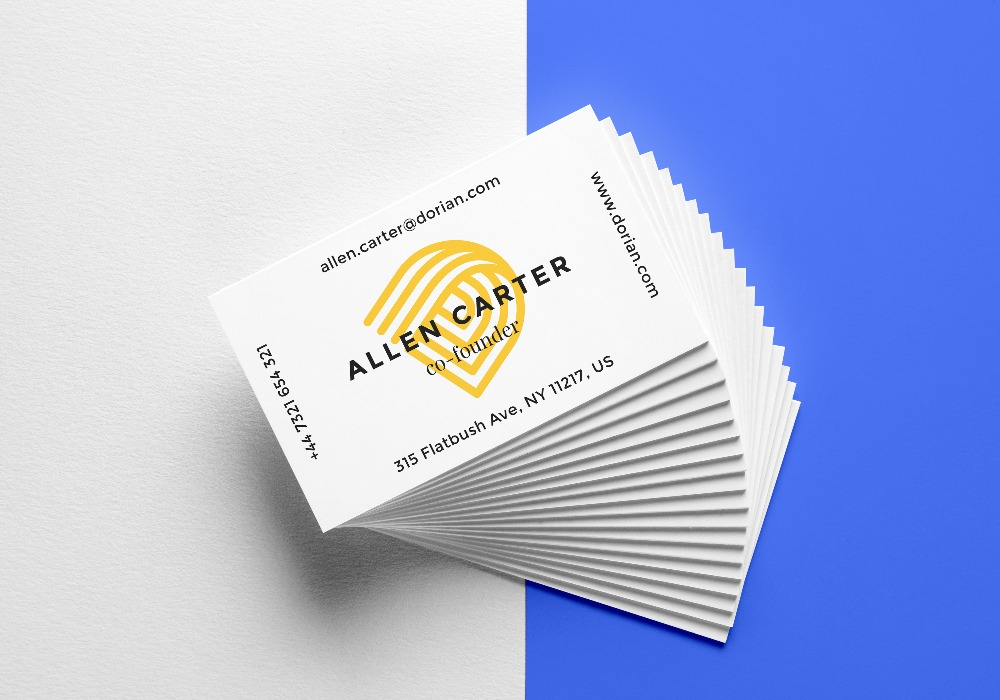 Premium Morden Design White Thick Business Card Print-in Business