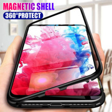 Sfor Huawei P20 Lite P30 P10 Pro Nova 4 3 3i 2S Case Metal Magnetic Tempered Glass Cover for P Smart Plus Y6 Y7 Y9 2019