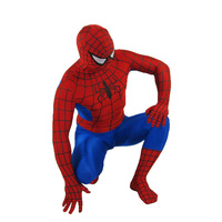 Red Spiderman Costume Adult Halloween Costumes For Men Superhero Cosplay Spandex Full Bodysuit Zentai Plus Size