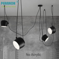 Modern Nordic DIY Aluminum LOFT Drum Pendant Lights Creative Personality Restaurant Cafe Fashion Bongos Suspension Lamp
