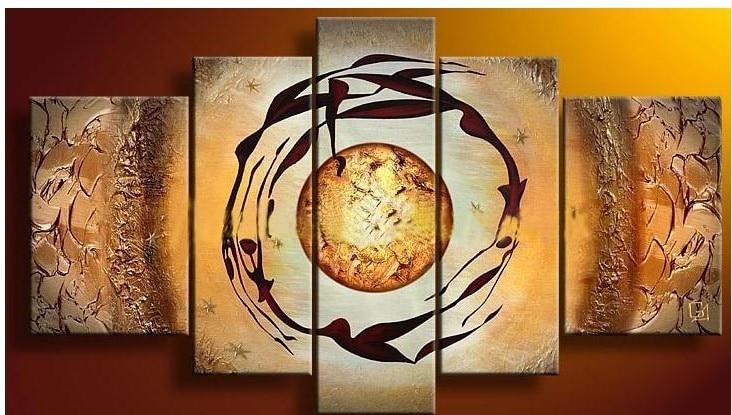 Ручная роспись происхождения жизни-современный холст искусство абстрактное настенное украшение картина маслом стены искусства предметы интерьера гостиной