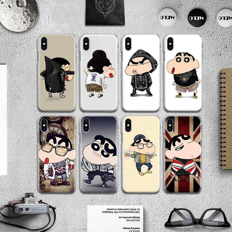 Classic Funny Cartoon Character Boy Back Cover for Iphone 4 4S 5 5S SE 6 6S 7 8 Plus X Hard Case Fundas Coque Bumper