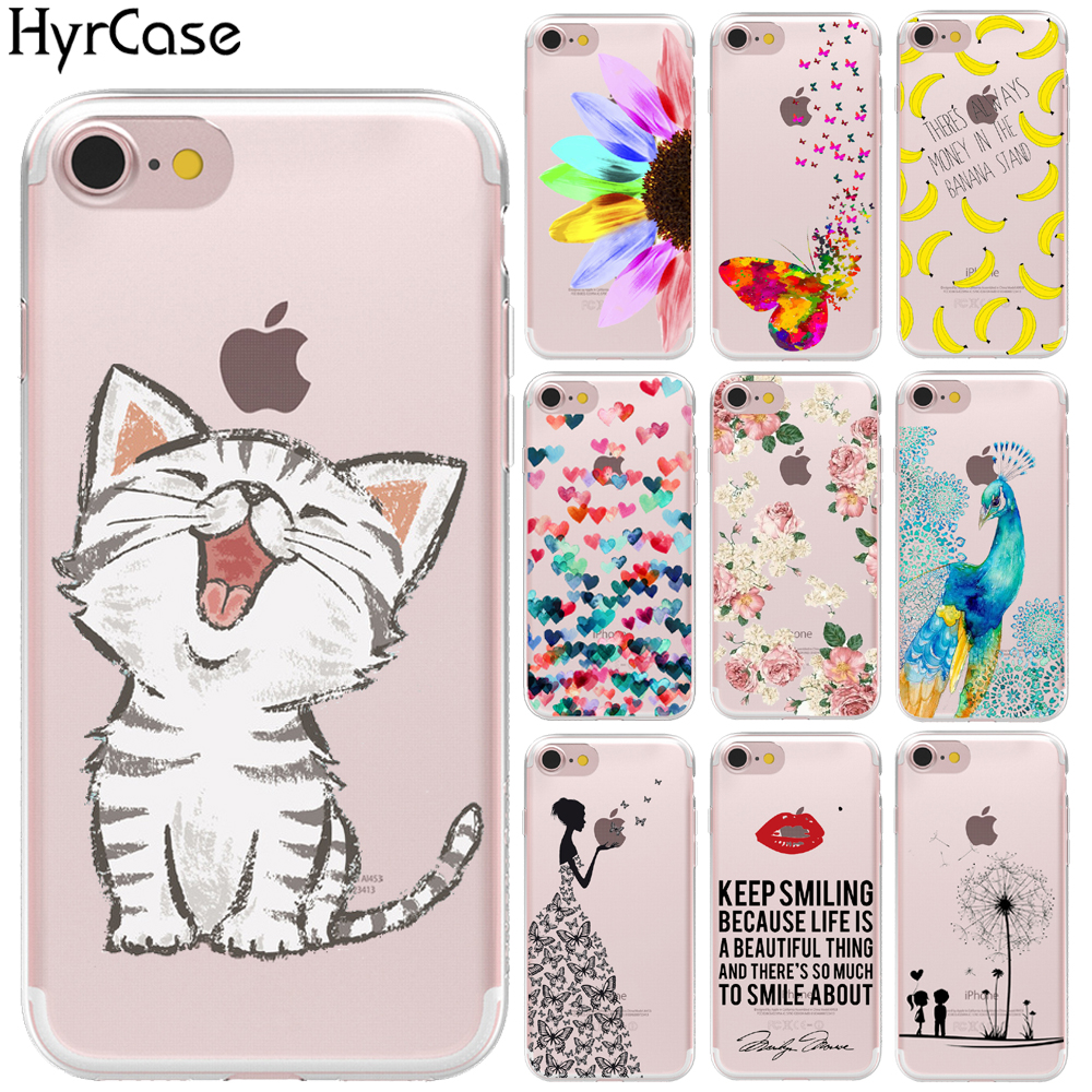 2016 New Arrival Hot Design Hard Plastic Transparent Phone Skin Back Case Cover For Apple iPhone 4 4S 5 5S SE 6 6S 7 Plus 6SPlus