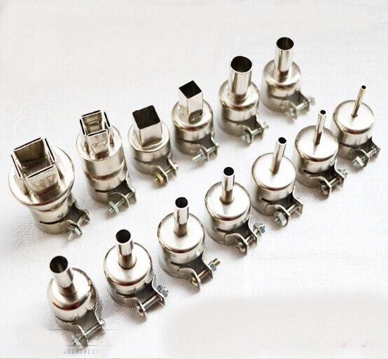13kinds Free Shipping Universal BGA Nozzle SMD Hot Air Station Hot Air Gun Dedicated BGA Nozzles For 850BAD/852D/990AD/8957DW