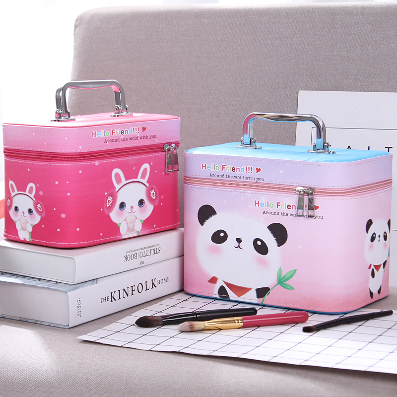 Professional Cosmetic Bag Portable Large Capacity Manicure Beauty Storage Box Cosmetic Case Waterproof Lovely The New Travel hiinst black portable and durable waterproof portable carrying storage aluminum alloy case box for spark drop aug15