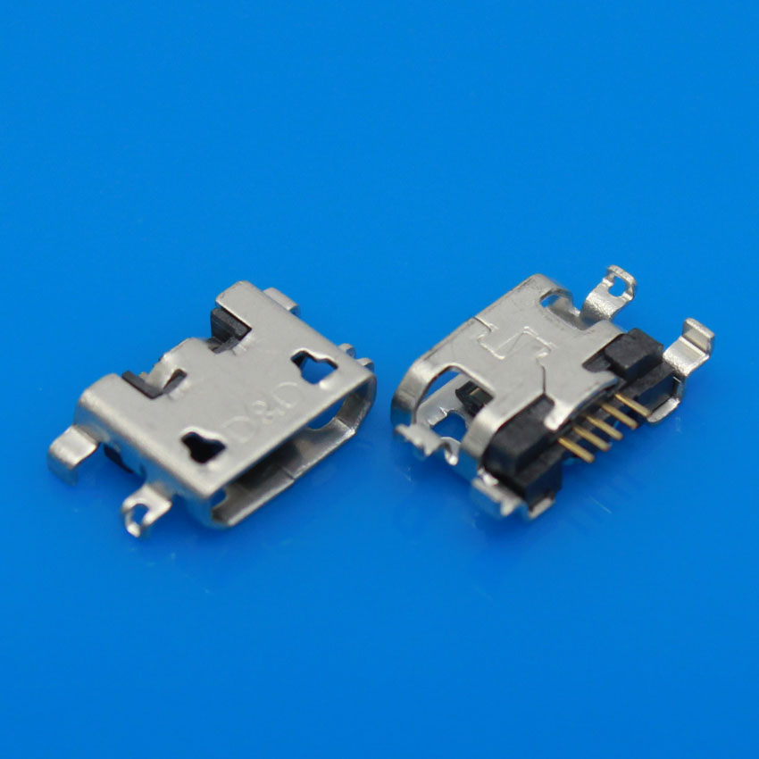 200pcs, 300pcs,500pcs micro USB Charging jack connector for lenovo S720 S890 P780 P770 A850 A830 S820 S880 A800 A590 micro usb charging port charger dock for lenovo yoga tablet b6000 plug connector flex cable board replacement