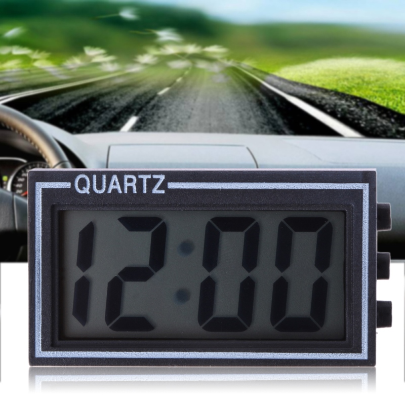 Mini Digital LCD Auto Car electronic Truck Clock Dashboard Date Time Calendar Cl