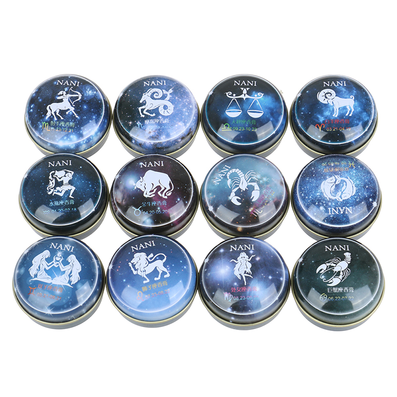 Solid Perfume 12 Signs Constellation Zodiac Magic Solid Deodorant Solid Fragrance For Women Men  Deodorant Fragrance