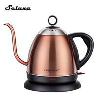 High quality 1L Gooseneck Electric Kettle Stainless Steel Pour Over Kettle Hand Drip Coffee Pot Teapot V60 Coffee Maker Barista